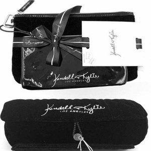 NWT 3pc Set Kendall & Kylie Makeup Bag Set Velvet